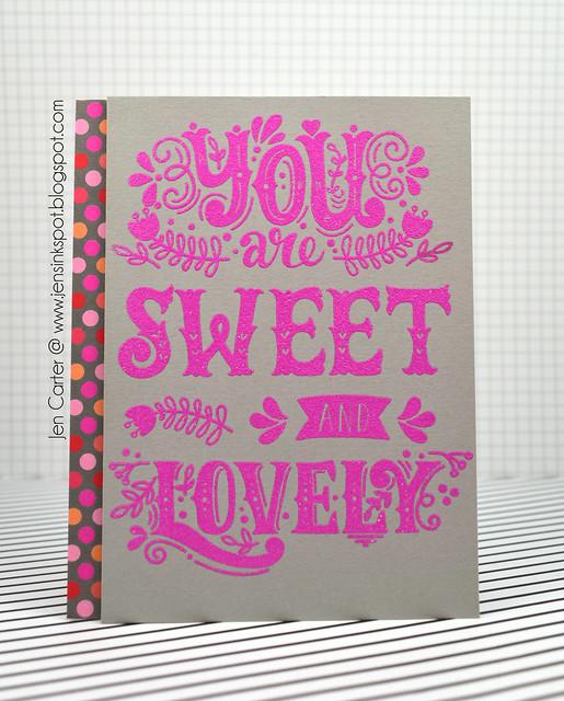 Jen Carter You Sweet Lovely Gray Pink Polka Dot 1