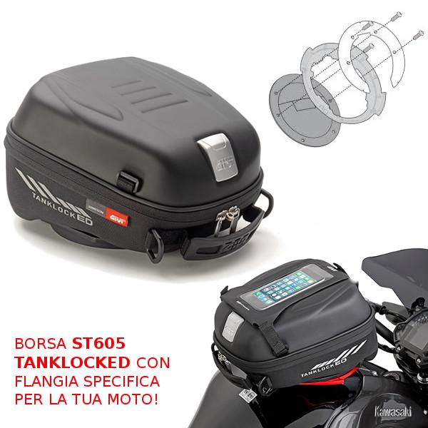 FLANGIA ATTACCO BORSA DA SERBATOIO SPECIFICA TANKLOCK BF04 KAWASAKI Z 750 2007 2014 GIVI