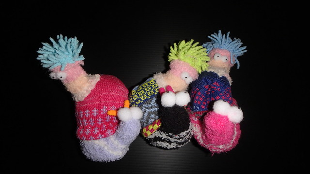 How to make plushie sea anemones on snails