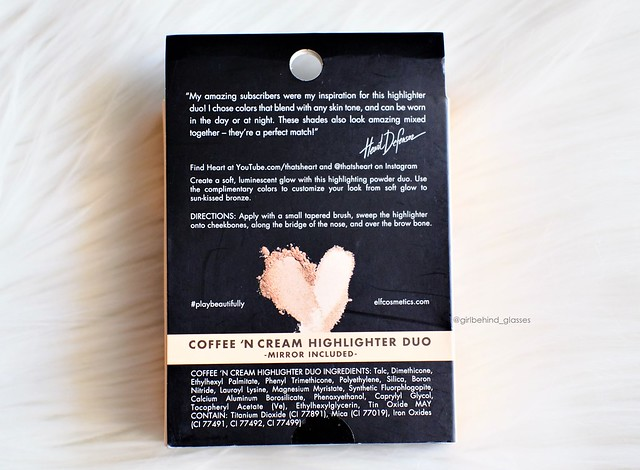 ELF Cosmetics Heart Defensor Coffee and Cream Highlighter Palette2