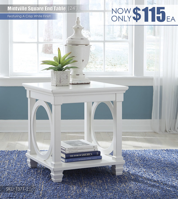 Mintville Square End Table_T371-2