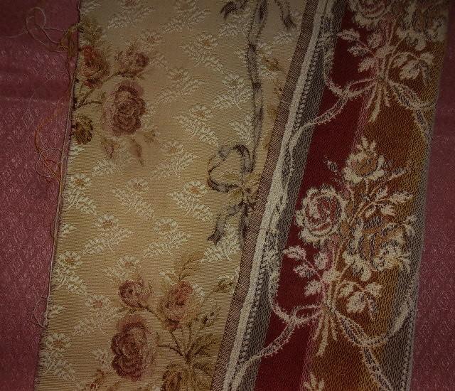 Tapisserie A Motif Rose : Tissu ancien style tapisserie motifs de roses