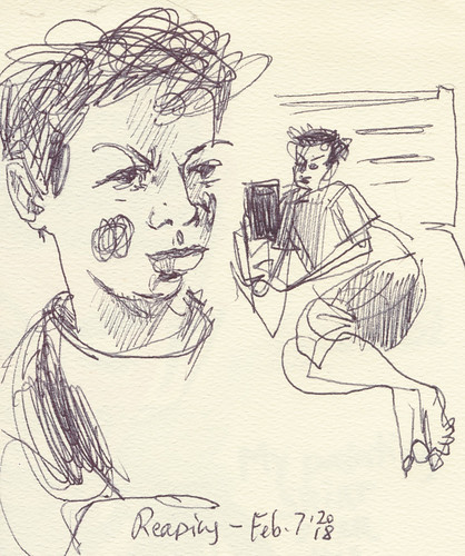 Sketchbook #112: Reading Time