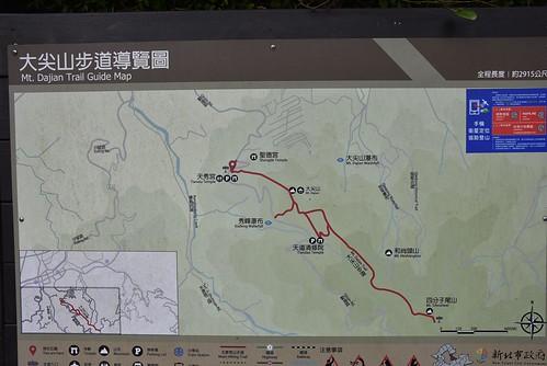大尖山登山步道-地圖