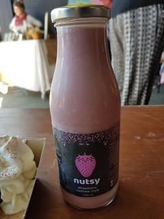 Strawberry Cashew Milk from Nutsy at Brisbane Vegan Markets