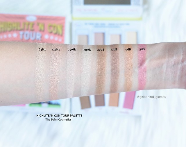 The Balm Cosmetics Highlite 'N Con Tour Palette swatches