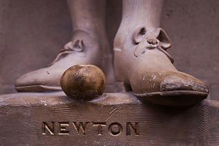 Apple at Newton's feet