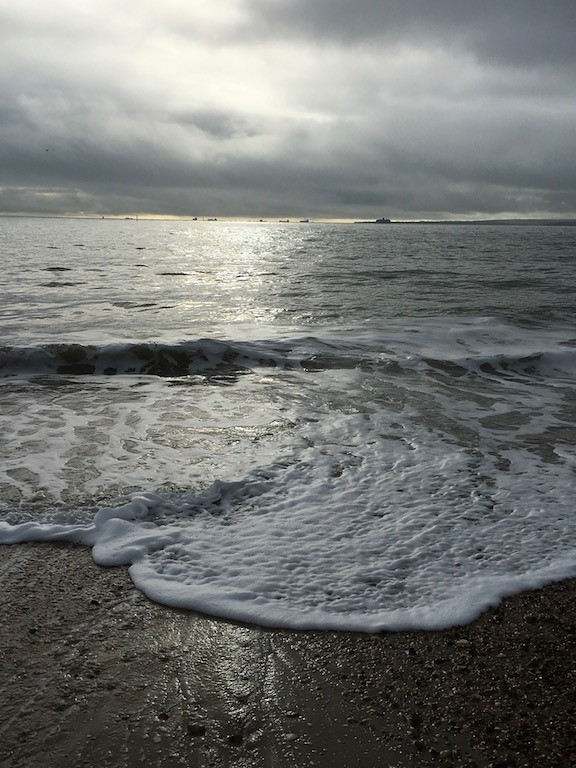 Curling waves, Southsea Portsmouth to Hayling Island walk
