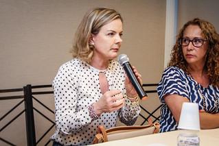Coletiva de Imprensa com a presidenta do PT, Gleisi Hoffman (PT-PR). 22/01