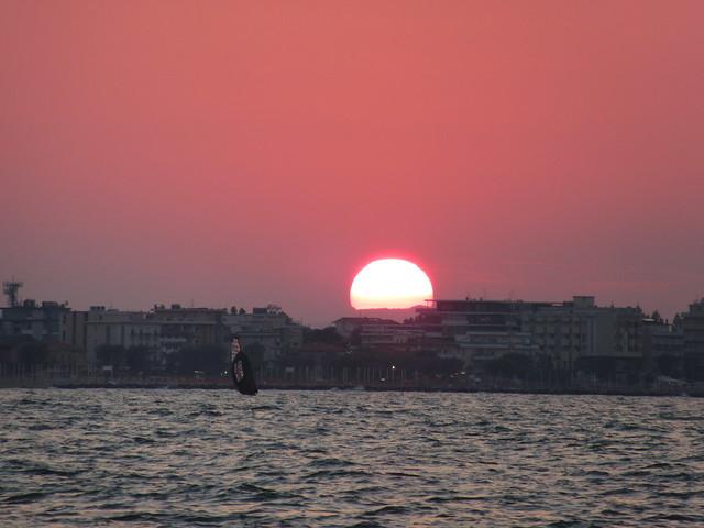 Sonnenuntergang über Rimini