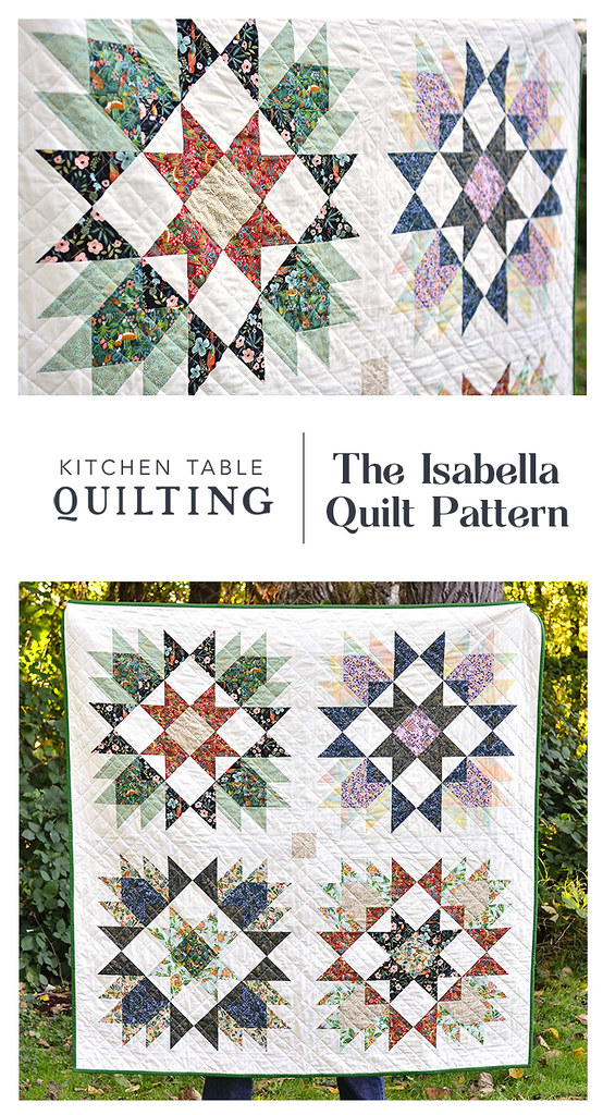 The Isabella Quilt Pattern using Menagerie Fabric by Rifle Paper Co - Kitchen Table Quilting
