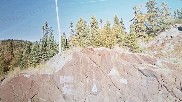Stone triangle. #ridingthroughwalls #xcanadabike #googlestreetview #ontario