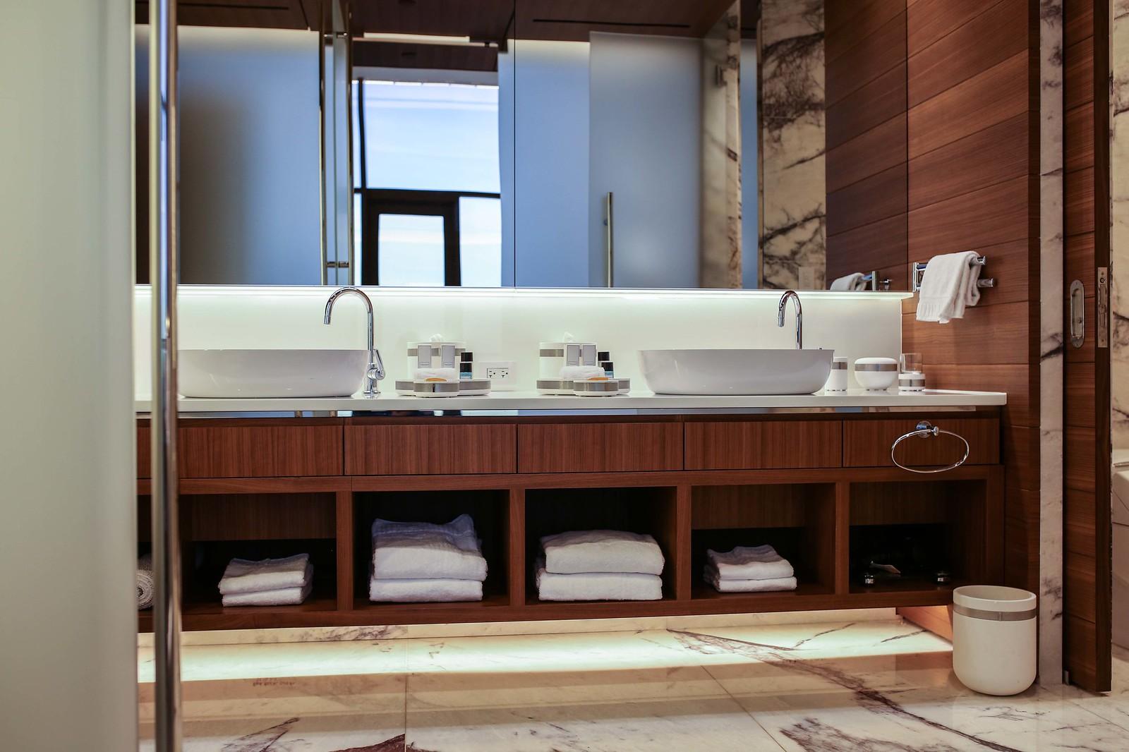 guest bathroom in red rock resort suite