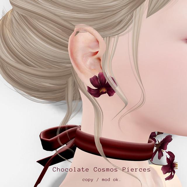 *NAMINOKE*Chocolate Cosmos Pierces