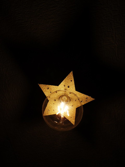 Starbright DIY Lampshade | Hedgefairy https://hedgefairy.wordpress.com