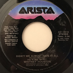 WHITNEY HOUSTON:DIDN'T WE ALMOST HAVE IT ALL(LABEL SIDE-A)