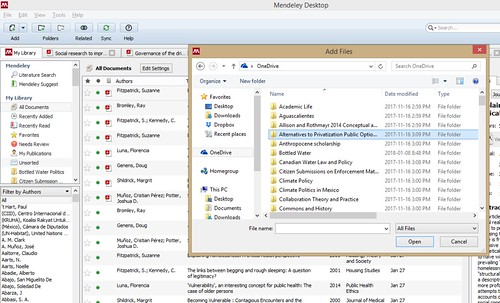 adding files to Mendeley from hard drive