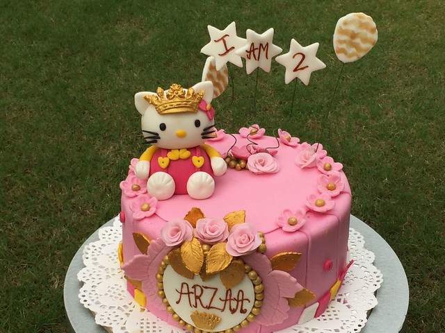 Princess Kitty Theme Cake by Gayakshis Delights