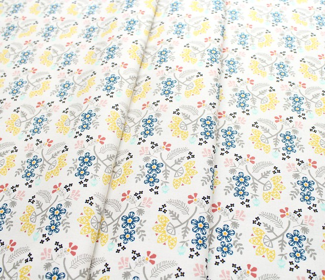 COTTON+STEEL Paper Cuts 1966-01 Paper Bouquet Lemon