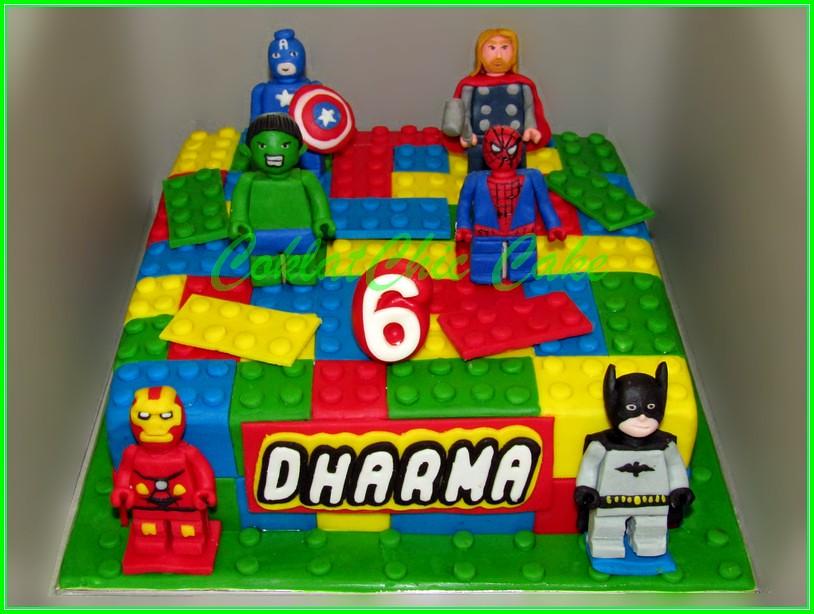 Cake Lego Superhero DHARMA 20 cm