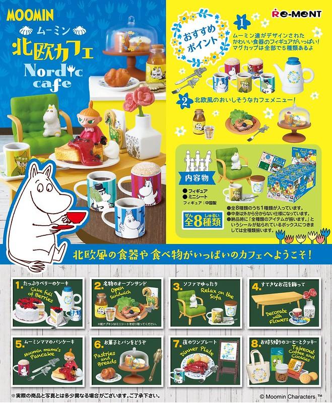 讓人輕鬆愉悅的北歐風情!RE-MENT《嚕嚕米(Moomin)》「北歐咖啡廳」盒玩(ムーミン 北欧カフェ)