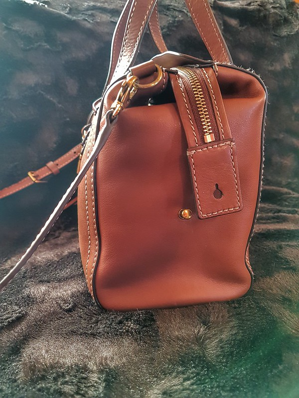 Fossil Emma Satchel Side view