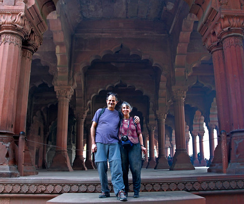 Al and I at the Red Fort in Delhi, India