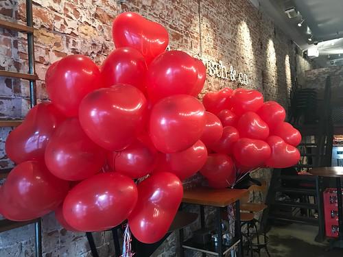 Heliumballonnen Hartballonnen Valentijnsdag Bar Ter Marsch en Co Rotterdam