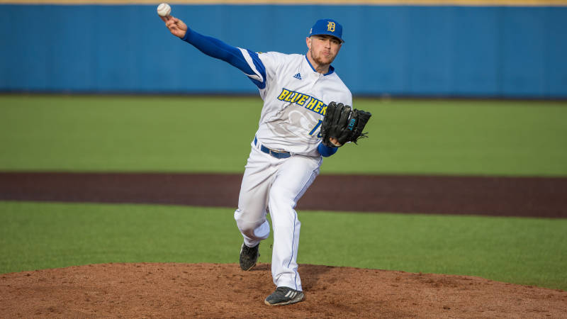 Hens sweep Delaware State in Home Opener