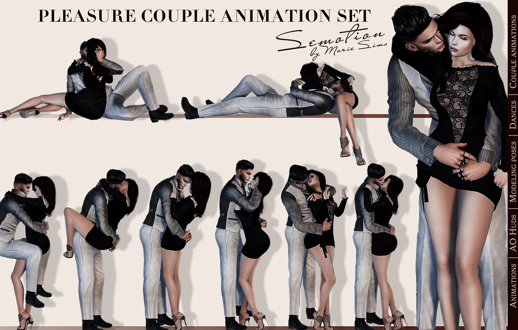 SEmotion Pleasure Couple Set – 10 smooth sync animations