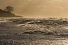 Ostsee bei Sturm und Sonnenuntergang
