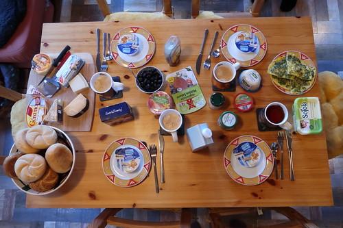 Vegetarisches Frühstück bei Freunden