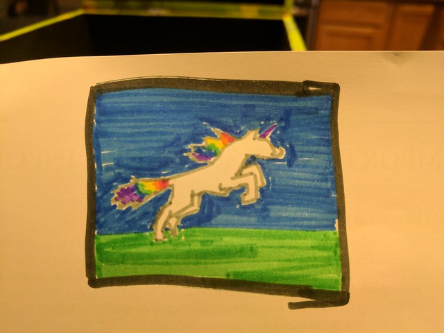Rainbow Unicorn Flag