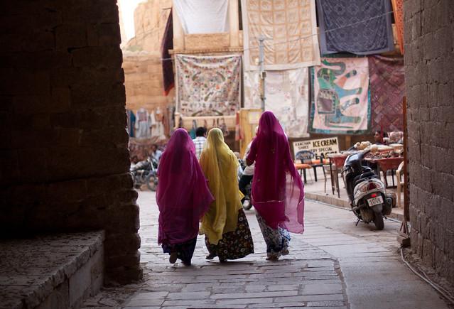 Life inside Jaisalmer Fort, Rajasthan.