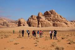 Trekking in the Wadi Rum