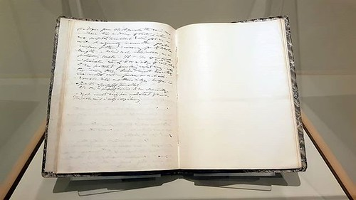 Thoreau's last journal entry, followed by a blank page. He died six months later.