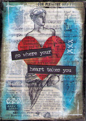 Mixed Media Heart Set 2 4of5