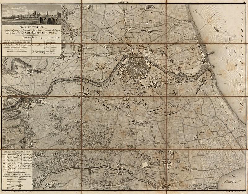 Suchet; Pedemonte; Collin, E.; A. Bossange; F. Didot - Plan de Valence (1811)