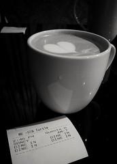 First pretty latte art I've ever gotten :)