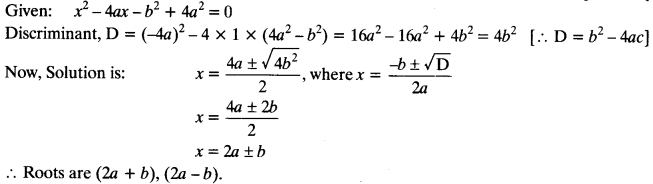 Quadratic Equations Chapter Wise Important Questions Class 10 Mathematics 113