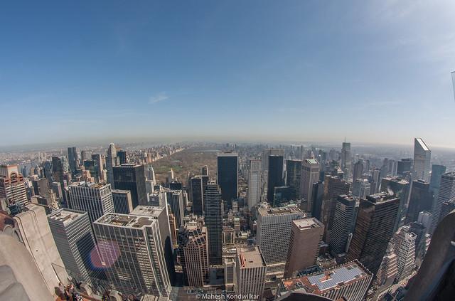 NYC Rockefeller Fisheye (2010)