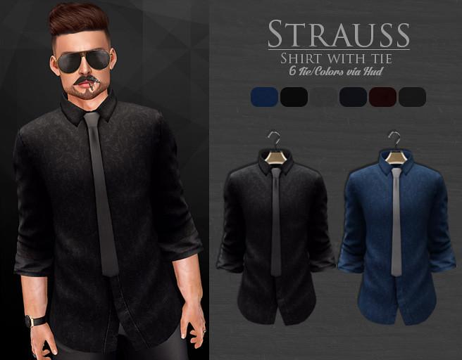 HELLO TUESDAY / Strauss Shirt w/tie - TeleportHub.com Live!