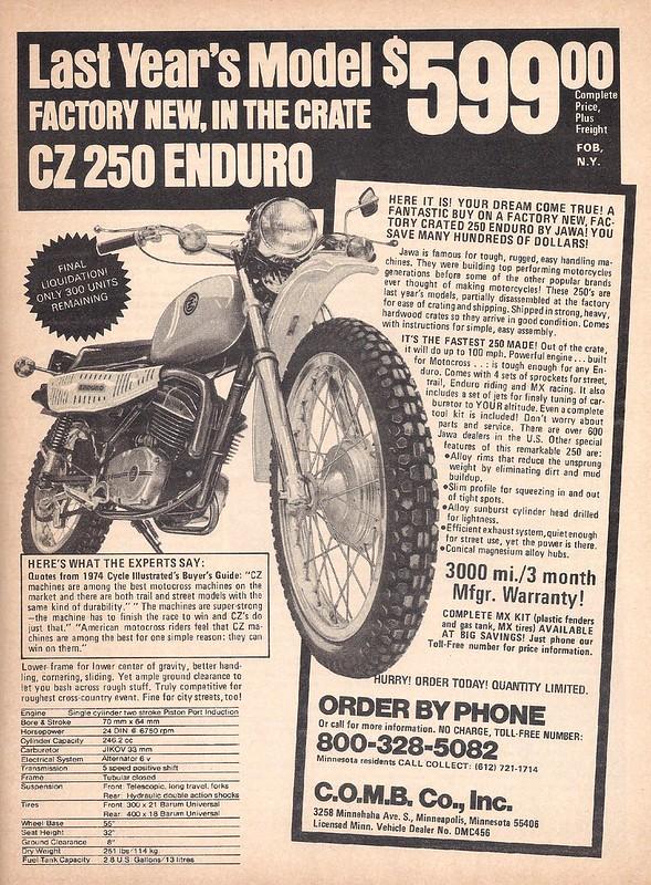 CZ 250 enduro 1976