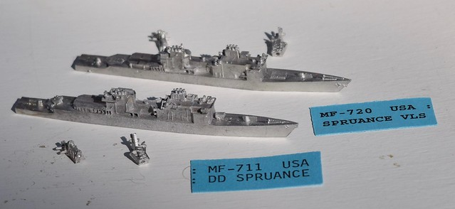 PFC C-in-C Spruance DD destroyer miniatures