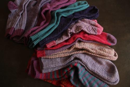 Comparatif d'usure de fils à tricoter les chaussettes