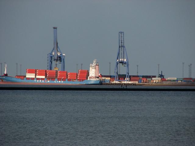 Felixstowe docks from Dovercourt