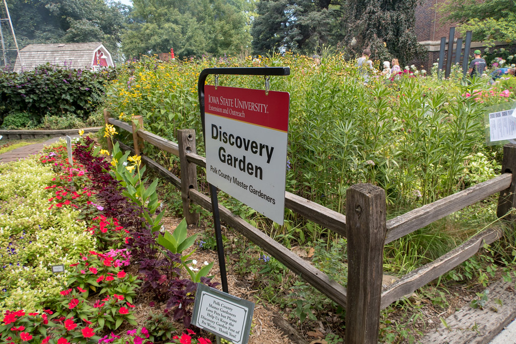 Sign for Discovery Garden at Iowa State Fair