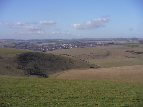 Views towards Lewes from Saxon Down