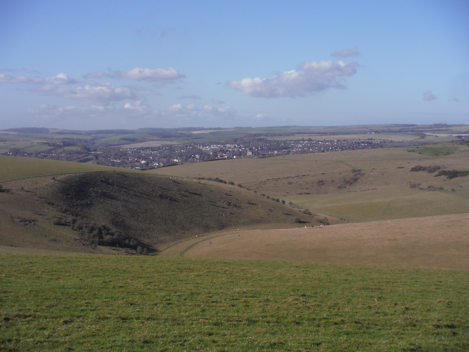Views towards Lewes from Saxon Down SWC Walk 181 - Lewes to Seaford via West Firle