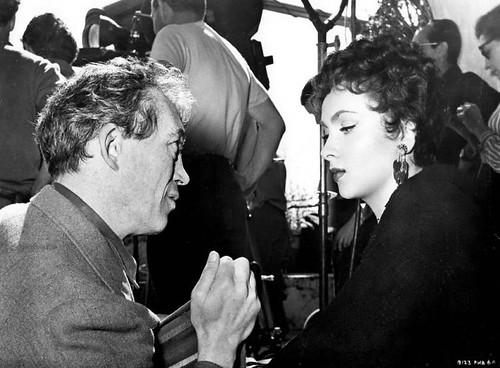 Beat the Devil - backstage 2 - John Huston and Gina Lollobrigida
